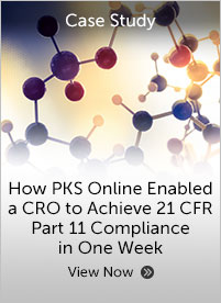 How PKS Online Enabled a CRO to Achieve 21 CFR Part 11 Compliance in One Week